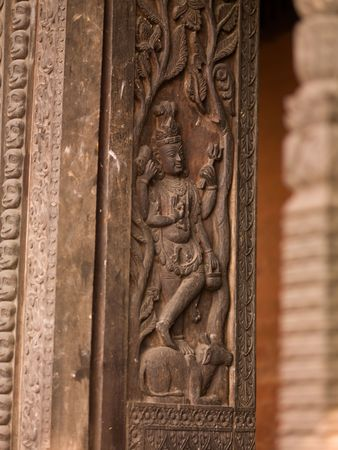 ccedil: Varanasi, India - Carved surface on wall