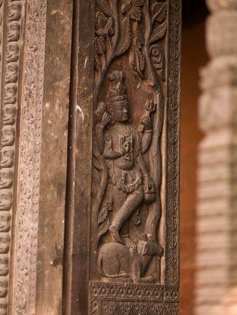 ccedil: Varanasi, India - Carved surface on wall