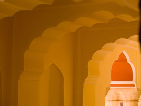 Jaipur, India - interior ceiling Stock fotó