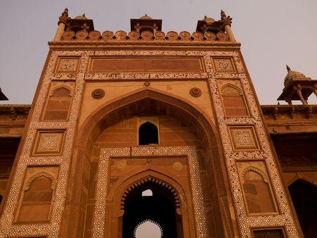 Fatehpur Sikri, India - Stad van de Overwinning, Agra Stockfoto