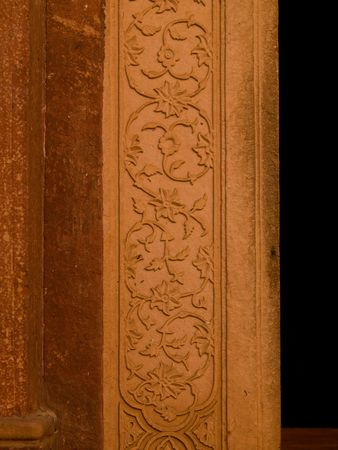 Carvings on walls of Fatehpur Sikri, India - City of Victory, Agra