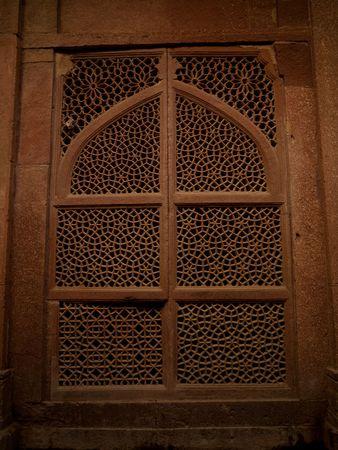 Muur in Fatehpur Sikri, India - Stad van de Overwinning, Agra Stockfoto