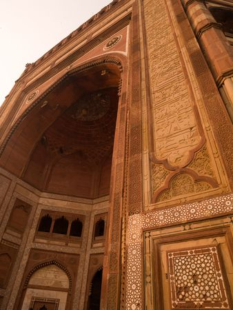 fatehpur: Wall in Fatehpur Sikri, India - City of Victory, Agra Stock Photo
