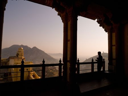 amber fort: View from balcony of Amber Fort, Jaipur, India