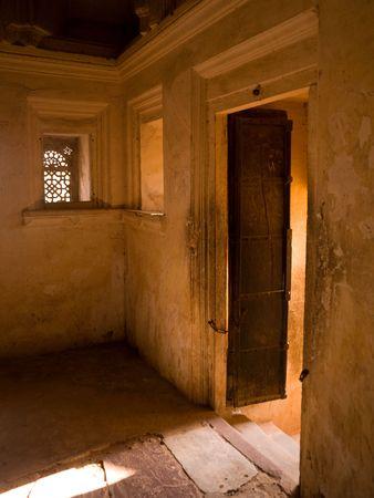 Interior doorway at Amber Fort, Jaipur, India photo