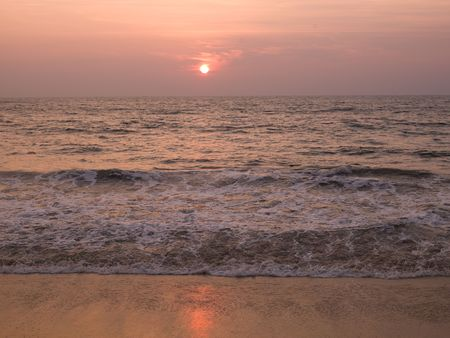 Horizon view of the Arabian Sea, Kerala, India photo