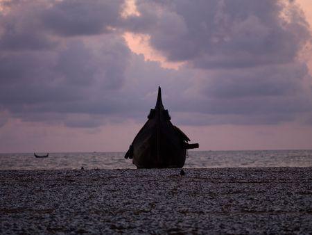 Fishing boat on the Arabian Sea, Kerala, India photo
