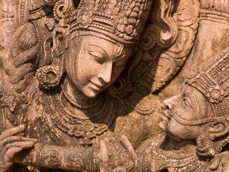 Carved figurine, Cochin, Kerala, India