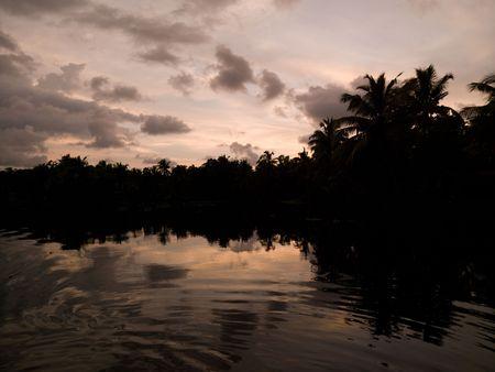 Sunset Backwater, Kerala, South India