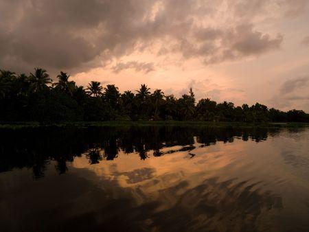 levit: Sunset Backwater, Kerala, South India