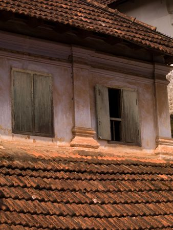 alleppey: Exterior of a building in Alleppey, Kerala, India