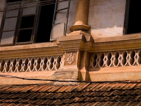 levit: Exterior of a building in Alleppey, Kerala, India