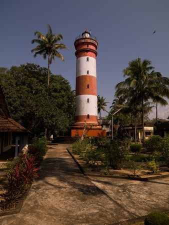 alleppey: Lighthouse in Alleppey, Kerala, India Stock Photo
