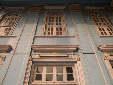 Façade of building in Mumbai India