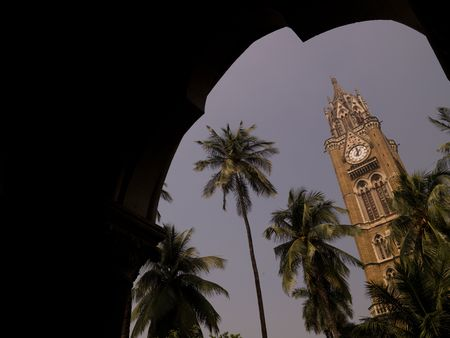 timepieces: Bell tower of building in Mumbai