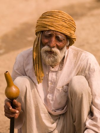 Elderly bearded man in India