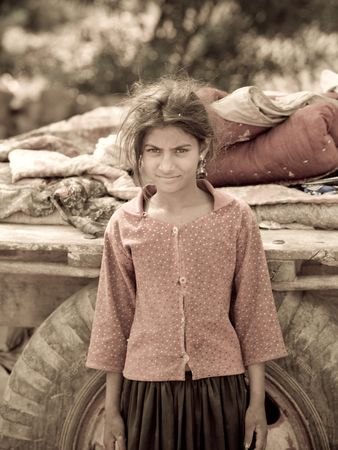 Young gypsy girl in India Stock Photo - 5296596