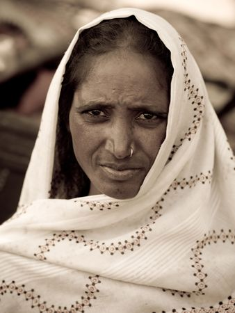 Gypsy woman in India
