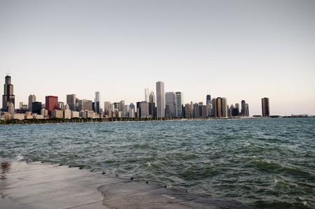 シカゴのスカイライン、ミシガン湖 写真素材 - 7187869