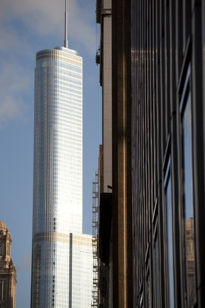 highrises: Chicago Trump Tower Stock Photo