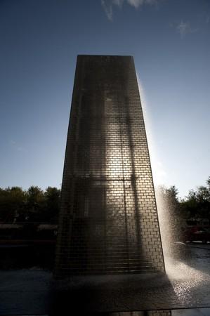 シカゴの王冠の噴水 写真素材