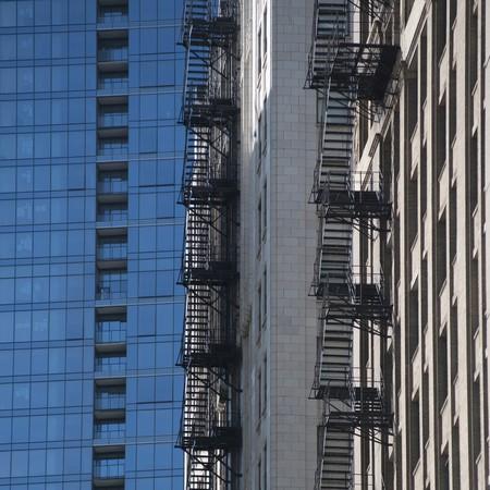 escape: Chicago, Fire Escape Stock Photo