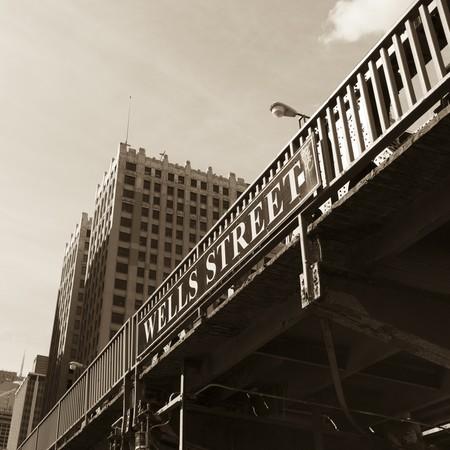 Bridge in Chicago photo