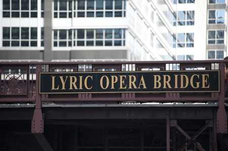 Chicago, Lyric Opera Bridge 스톡 콘텐츠