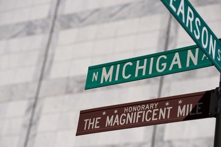 Chicago, Michigan Avenue street sign