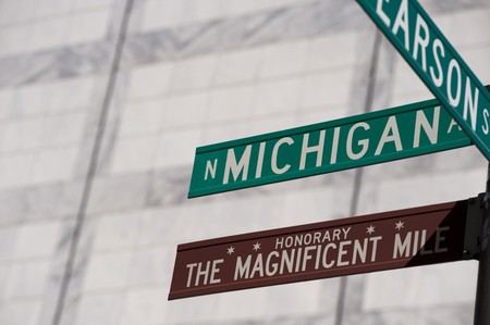 Chicago, Michigan Avenue street sign photo