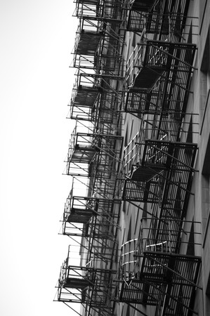 Chicago Fire Escape on the exterior of a building photo