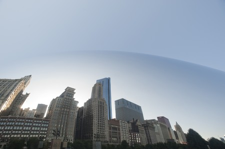 anish: Reflection in the Bean at Chicago, Millennium Park