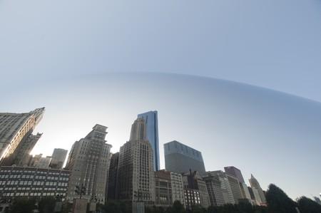 distort: Reflection in the Bean at Chicago, Millennium Park