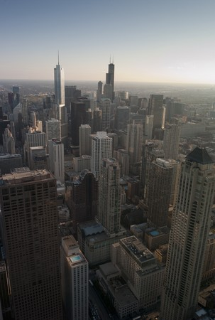 Aerial view of Chicago Cityscape Stock Photo - 7187858