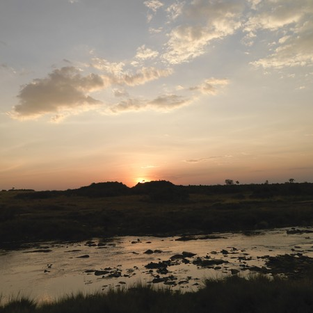 Mara River at sunset in Kenya Africa Stock Photo - 7187570