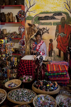 Display of African crafts