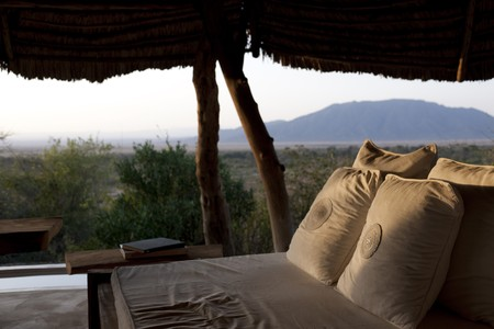 blockh�tte: Luxus-Lodge in Kenia  Lizenzfreie Bilder