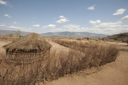 Hut in Kenyan village photo