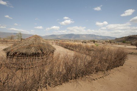 Hut in Kenyan village