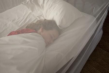 Girl sleeping at Manda Bay Resort