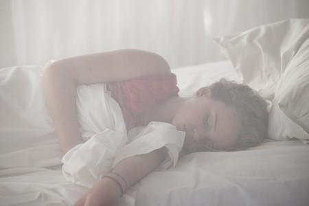 netting: Girl sleeping at Manda Bay Resort