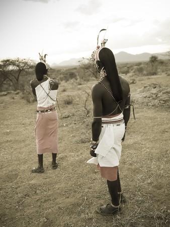Samuru tribesmen in Kenya Africa
