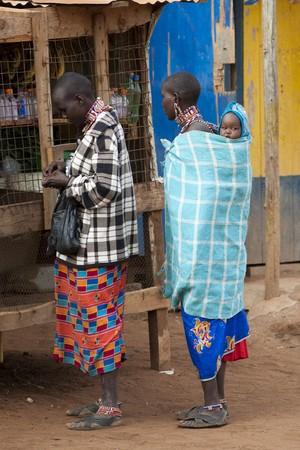 Villagers in Kenya