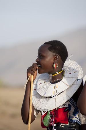 levit: Kenyan woman in tribal attire