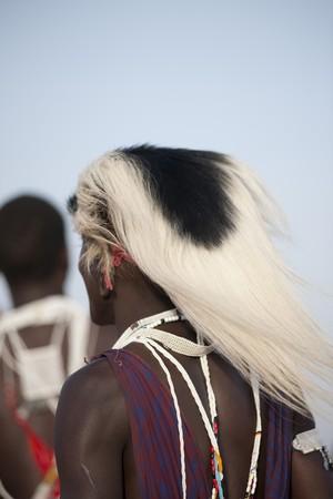 Kenyan man in tribal attire
