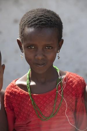 Kenyan girl in tribal attire Editorial