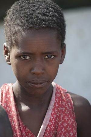 Kenyan girl in tribal attire