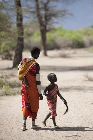 Kenyan children in tribal attire
