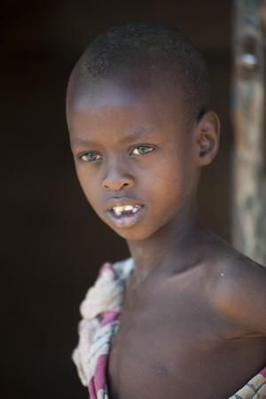 Kenyan child in tribal attire
