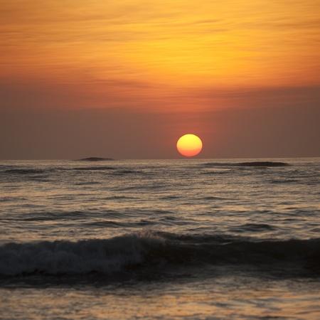 nightfall: Sunset sky over Costa Rica Stock Photo